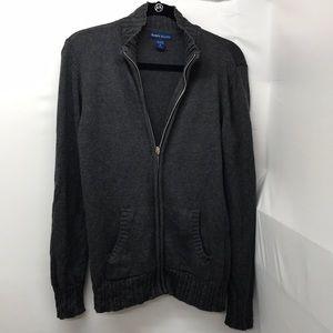 Karen Scott Size Small gray zipper sweater